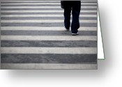 Layer Greeting Cards - Zebra Crossing Greeting Card by Kam Chuen Dung