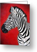 Ilse Kleyn Greeting Cards - Zebra Greeting Card by Ilse Kleyn