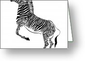Neigh Greeting Cards - Zebra Greeting Card by Michal Boubin