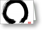 Asian Art Greeting Cards - Zen Circle Five Greeting Card by Peter Cutler