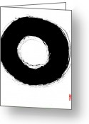 Tai Greeting Cards - Zen Circle Seven Greeting Card by Peter Cutler