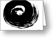 Tai Greeting Cards - Zen Circle Wave Greeting Card by Peter Cutler