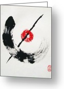 Free Style Greeting Cards - Zen no Seishin Greeting Card by Roberto Prusso