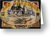 London England  Digital Art Greeting Cards - Zeppelin Express work B Greeting Card by David Lee Thompson