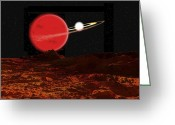 Binary Stars Greeting Cards - Zeta Piscium Is A Binary Star System Greeting Card by Ron Miller