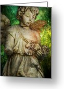Cemetery Greeting Cards - Zeus Messenger Greeting Card by Leah Moore