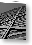 Lines Photo Greeting Cards - Zig-zagging To The Top Greeting Card by Daniel Chen