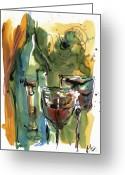 Food Art Painting Greeting Cards - Zin-FinDel Greeting Card by Robert Joyner