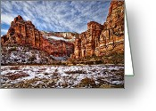 Christopher Holmes Photography Greeting Cards - Zion Canyon In Utah Greeting Card by Christopher Holmes