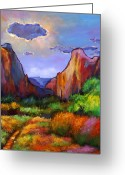 National  Parks Greeting Cards - Zion Dreams Greeting Card by Johnathan Harris