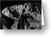 Trees And Rock Cliffs Greeting Cards - Zion National Park lll Greeting Card by Hideaki Sakurai