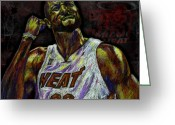 Nba Greeting Cards - Zo Greeting Card by Maria Arango