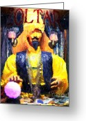 Fortune Teller Greeting Cards - Zoltar Greeting Card Greeting Card by John Rizzuto