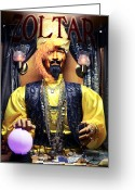 Night Shots Greeting Cards - Zoltar Greeting Card by John Rizzuto