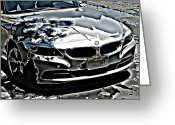 Horror Car Greeting Cards - Zombie BMW Z4 Greeting Card by Samuel Sheats