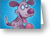 Purple Greeting Cards - Zombie Puppy Greeting Card by John Schwegel