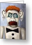 Santa Fe Greeting Cards - Zozobra of Santa Fe Greeting Card by Leah Saulnier The Painting Maniac