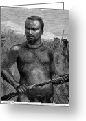 African Warrior Greeting Cards - Zulu Prince, 1879 Greeting Card by Granger