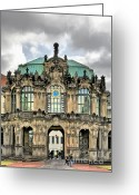 Passage Greeting Cards - Zwinger Dresden - Carillon Pavilion - Caution fragile Greeting Card by Christine Till
