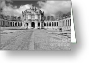 Outside Greeting Cards - Zwinger Dresden Rampart Pavilion - Masterpiece of Baroque architecture Greeting Card by Christine Till