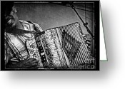 Cajun Greeting Cards - Zydeco Greeting Card by Jeanne  Woods