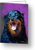Canine Art Greeting Cards - Gretchen Greeting Card by Frances Marino