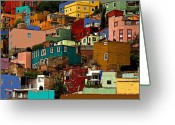Darian Day Greeting Cards - Guanajuato Hillside 4 Greeting Card by Olden Mexico