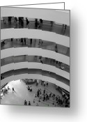 Guggenheim Museum Greeting Cards - Guggenheim Interior Greeting Card by Vijay Sharon Govender