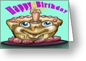 Humor Greeting Cards - Happy Birthday Greeting Card by Kevin Middleton