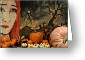 October Greeting Cards - Happy Halloween Greeting Card by Jeff Burgess