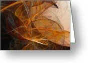 Abstract Expressionism Greeting Cards - Harvest Moon Greeting Card by David Lane