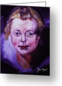 Rubens Painting Greeting Cards - Head Of A Girl  - Peter Paul Rubens Greeting Card by John Keaton