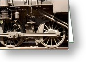 Bruster Greeting Cards - Historic Trains Greeting Card by Clayton Bruster