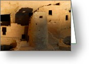 Native American Greeting Cards - Home of the Anasazi Greeting Card by David Lee Thompson