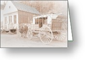 B.c Greeting Cards - Horse and Carriage Greeting Card by David  Naman
