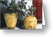 Door Greeting Cards - I Vasi Greeting Card by Guido Borelli