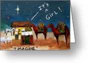 Spritual Greeting Cards - Imagine Greeting Card by Frances Marino