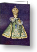 Infant Greeting Cards - Infant Jesus of Prague Greeting Card by Yuriy  Shevchuk