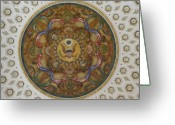 Art Of Building Greeting Cards - Interior Art at the Library of Congress Jefferson Building Greeting Card by Carol M Highsmith