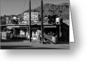 Oatman Greeting Cards - Jackass Junction Greeting Card by David Lee Thompson