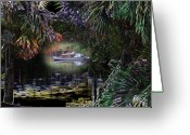 Rick Mckinney Greeting Cards - Jungle Glow Greeting Card by Rick McKinney
