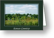 Contry Greeting Cards - Kansas Country Card Greeting Card by Jim  Darnall