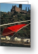 Medeival Greeting Cards - Katz Castle on Rhine Greeting Card by Carl Purcell