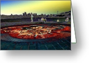 Lake Union Greeting Cards - Kite Hill Sundial Greeting Card by Tim Allen
