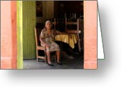 Old Person Greeting Cards - La Dona de La Noria 5 by Darian Day Greeting Card by Olden Mexico