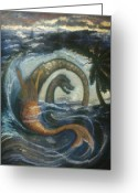 Barbara Nesin Greeting Cards - La Sirene Rabbah Greeting Card by Barbara Nesin