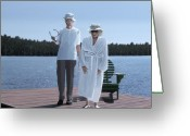 Elderly Painting Greeting Cards - Ladies of Muskoka Greeting Card by Kenneth M  Kirsch