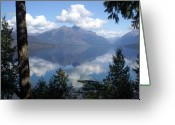 Lake Mcdonald Greeting Cards - Lake McDonald Glacier National Park Greeting Card by Marty Koch