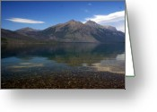 Lake Mcdonald Greeting Cards - Lake Mcdonald Reflection Glacier National Park 2 Greeting Card by Marty Koch