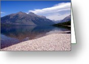 Lake Mcdonald Greeting Cards - Lake Mcdonald Reflection Glacier National Park 4 Greeting Card by Marty Koch